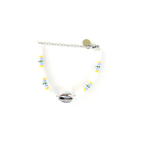 shell surfnecklace silver/gold