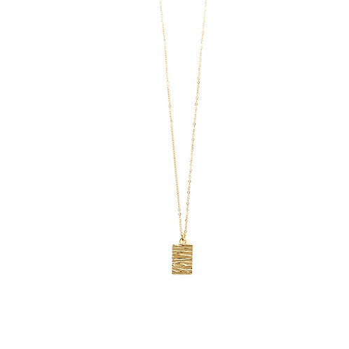 wild tag necklace gold