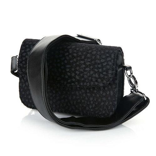 Axelle cheetah bag black