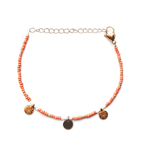 three coin anklet gold