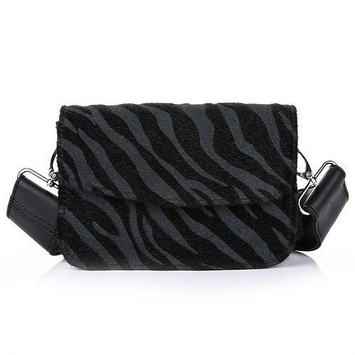 Romanie zebra bag black