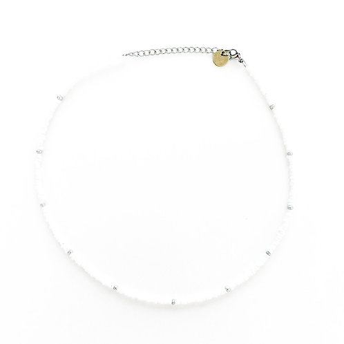 silver-white necklace