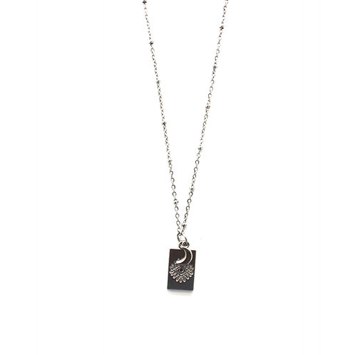 eye- moon necklace silver