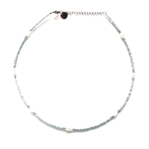 chic necklace blue silver