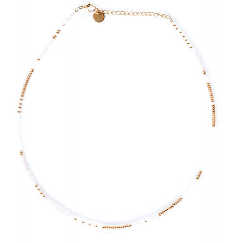 gold-rose pearl necklace