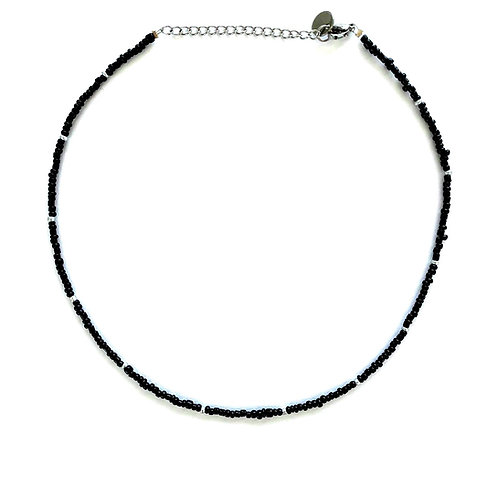 black-silver necklace