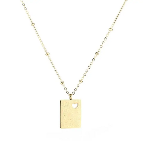 Love dot necklace gold