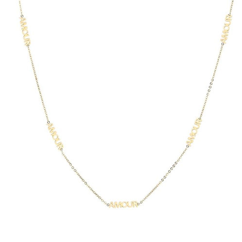 Amour necklace gold