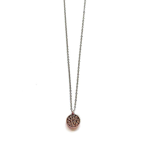 leopard print coin necklace silver