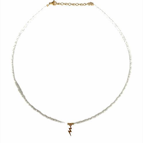 Lightning necklace gold