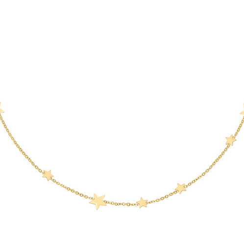 A lot of stars necklace gold