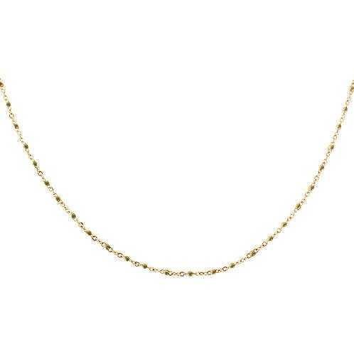 kaki dot necklace gold