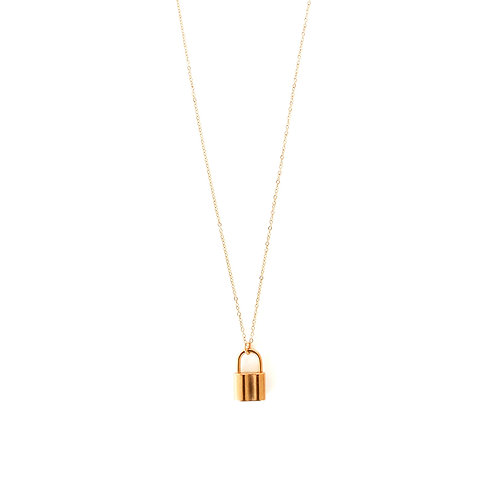 lock fine necklace gold