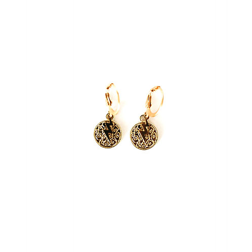 panther-thunder earrings gold