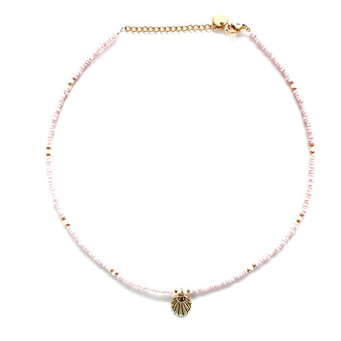 rose shell necklace gold