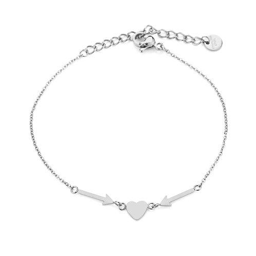 love you bracelet silver