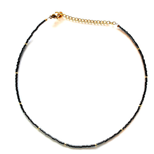black-gold necklace
