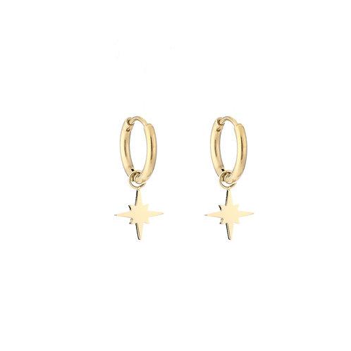 galaxy earrings gold