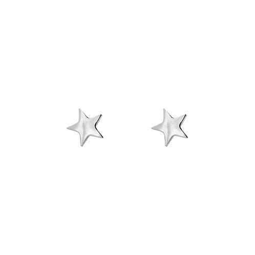 mini star earrings silver