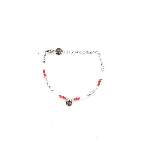 silver-blue pearl bracelet