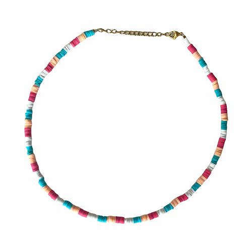 Blue-pink surf necklace
