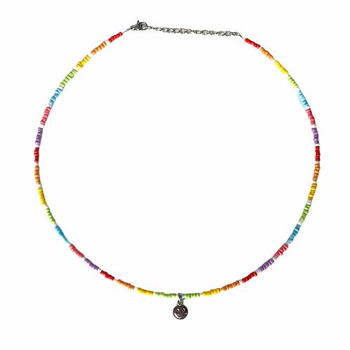 Smiley necklace silver