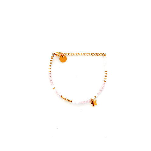 rose star bracelet gold