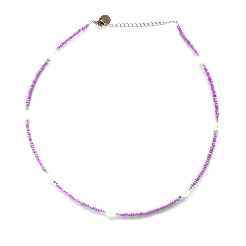 chic necklace lila silver