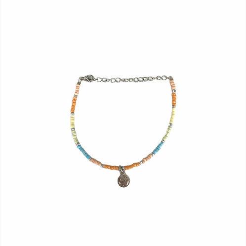 Smiley bracelet silver