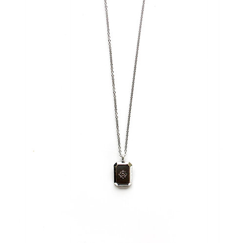 star tag necklace silver