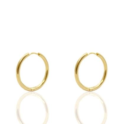 hoop earrings gold