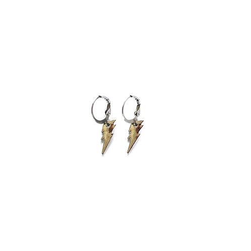 thunder earrings silver