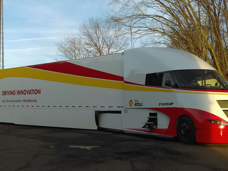 Shell's 2018 Starship Launch from AirFlow Truck, with LinkeDrive's PedalCoach