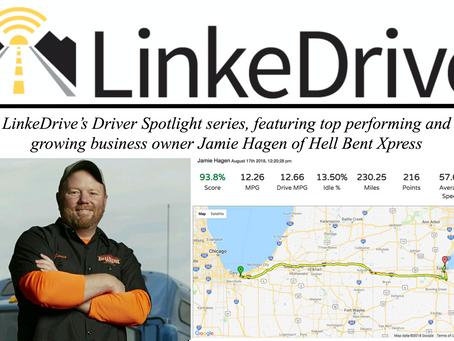 LinkeDrive Driver Spotlight at Hell Bent Xpress