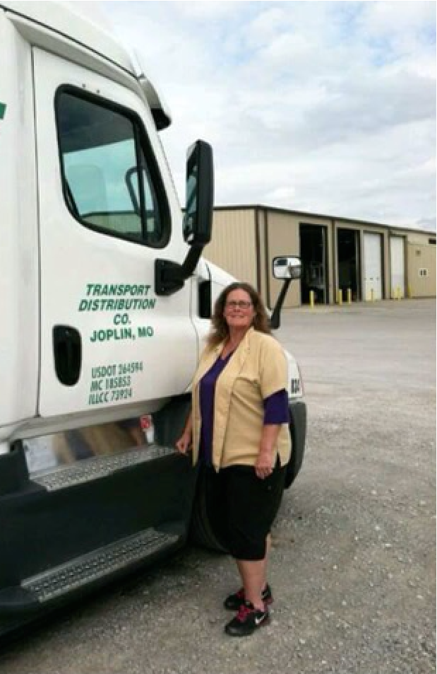 Peggy at TDC headquarters in Joplin, MO
