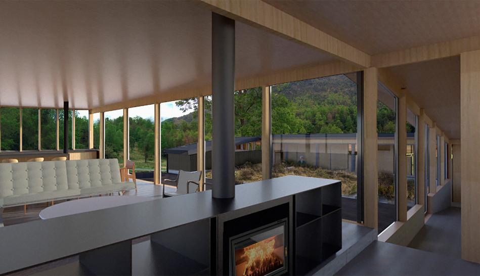 demo arquitectos casa cuenca lago colico