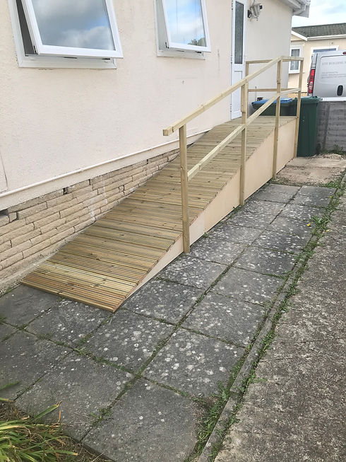 Access ramp and planters