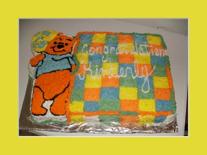 Pooh Baby Shower Cake