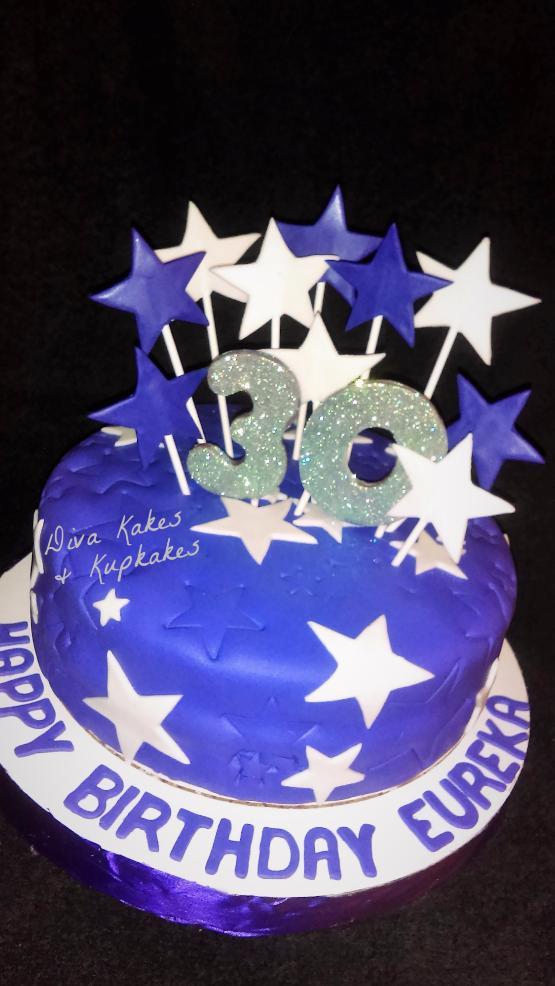 Stars Birthday Cake