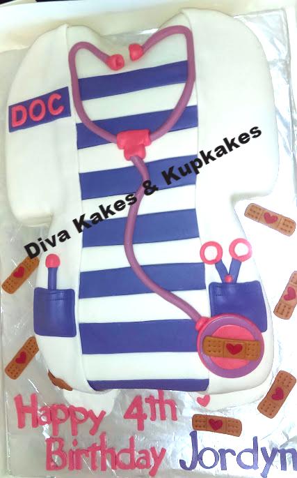 1st Doc McStuffins cake