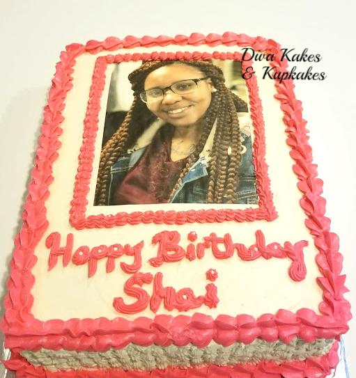 half sheet photo cake