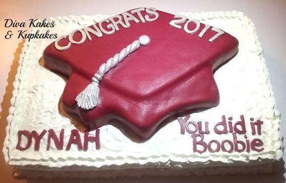 Graduation half sheet cake