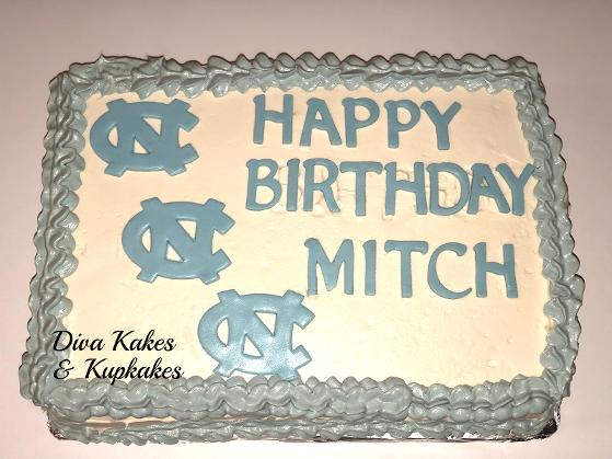1/4 Sheet NC tarheels cake
