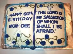 Bible bday cake