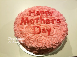 8 inch round - Mothers day cake