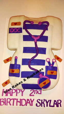 Doc McStuffins Scuptured Cake