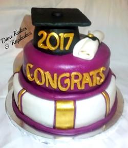 Graduation Tiered Cake