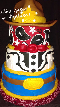 western theme cowboy cake