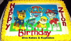 Paw Patrol Photo cake