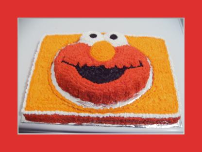 Tickle Me Elmo Cake 2